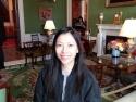 Green room inside the White House.