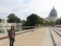 The Capitol building under remodeling with scaffold.