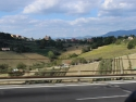 Road from Rome to Casia, Italy
