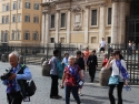 In front of Saint Mary Major's Basilica.