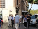 Pilgrims on the way to pay a visit to late Cardinal François-Xavier Nguyễn Văn Thuận at Santa Maria della Scala.