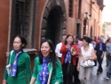 Pilgrims on the way to pay a visit to late Cardinal François-Xavier Nguyễn Văn Thuận at Santa Maria della Scala.