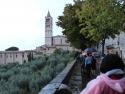 Walking toward St Claire's Basilica.