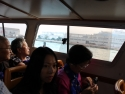 On board Venice shuttle boat headed for Venice.