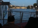 Siene river cruise at dusk.