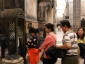 Entering St. James the Great tomb.