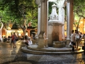 A well in front of Church without a roof at Largo do Carmo.